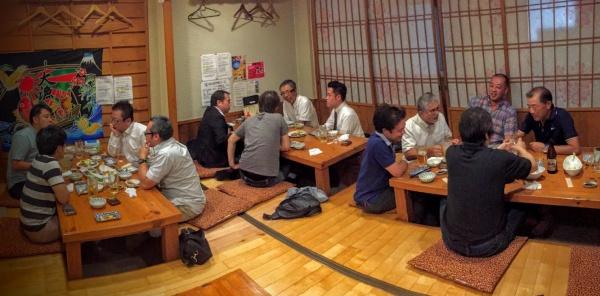 「侍」で食事会
