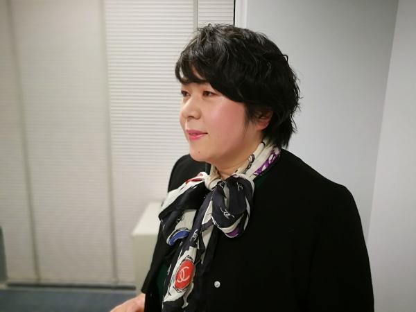 発表中の田中衛生士