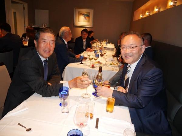 懇親会には東京支部の山口文誉先生もご参加いただきました。