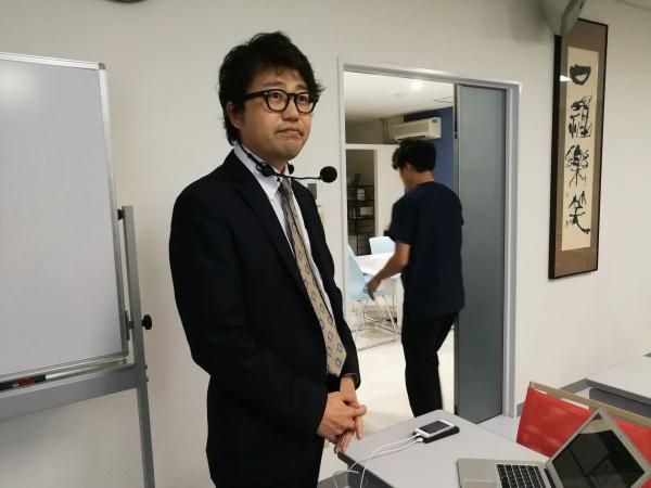 発表する宮崎康弘先生